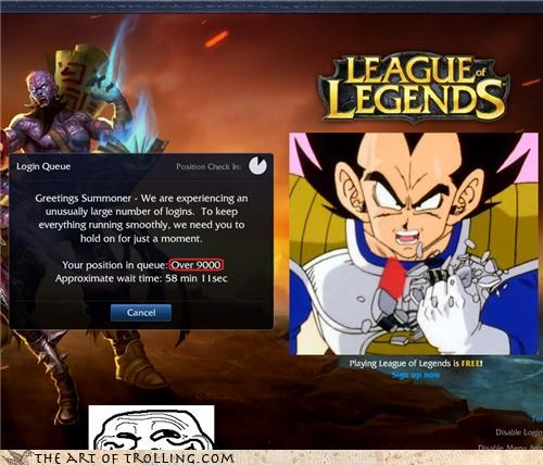 Dragon Ball Z goku league of legends over 9000 power level vegeta - 4562160384