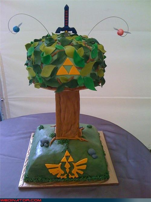 funny wedding photos,geek,wedding cake,zelda
