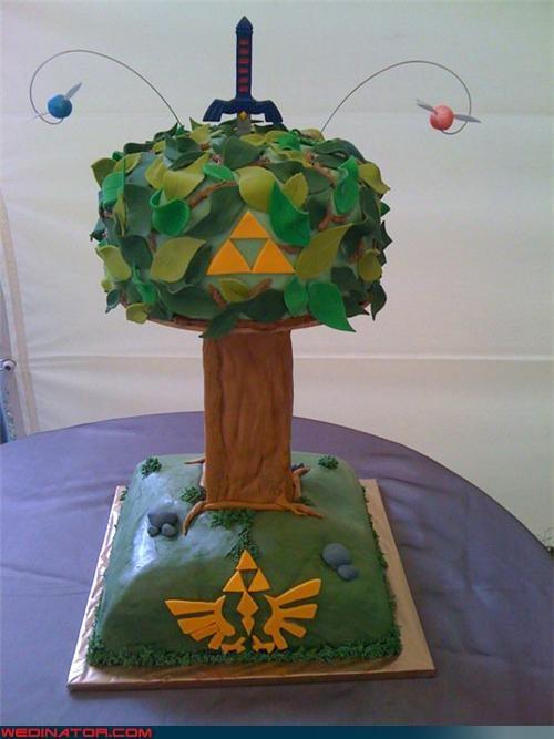 funny wedding photos geek wedding cake zelda - 4562290432