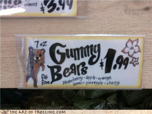 delicious,fat free,gummy bears,IRL,pedobear