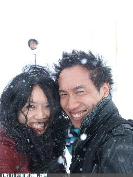 awesome azns jackets photobomb snow