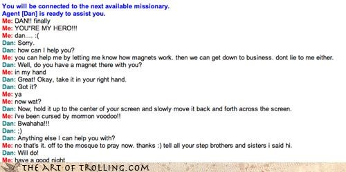 computer screen magnets Mormon Chat mormons rude trolling the trolls voodoo