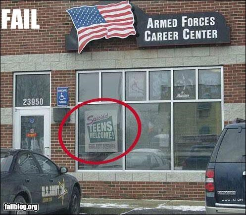 classic failboat military recruitment signs - 4563013120