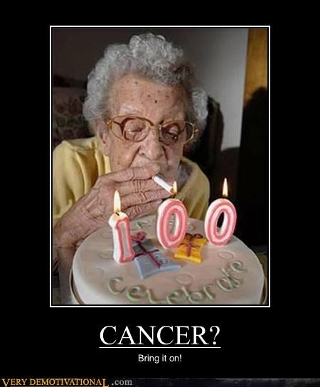 100 cancer old lady smoking