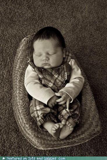 Babies cowboy hat napping - 4563456768