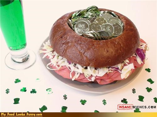 leprechaun pot of gold sandwich St Patrick's Day - 4563568640