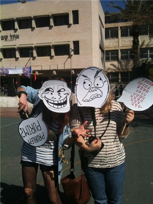 costume,IRL,jewishers,Purim,rage,trollface