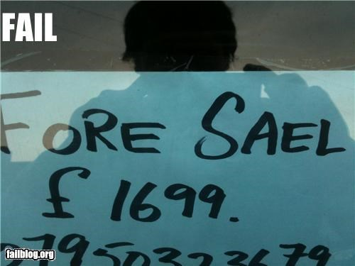 failboat g rated sale sign spelling - 4564132096
