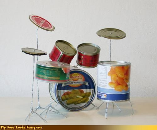 cans drum kit empty instrument Music recycling