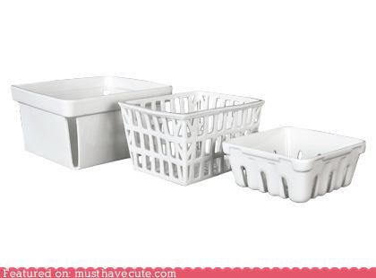 basket ceramic fruit tableware - 4564293376