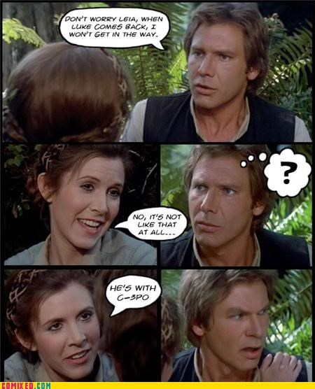 gay jokes Han Solo leia return of the jedi - 4564959232