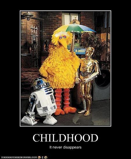 big bird demotivational funny sci fi Sesame Street star wars - 4565380608