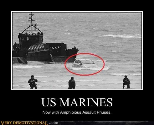 US MARINES Now with Amphibious Assault Priuses.