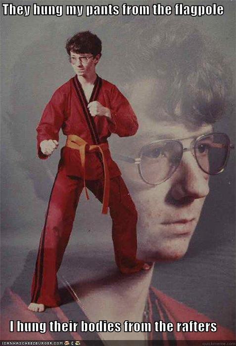 flagpole Karate Kid rafters - 4565650432