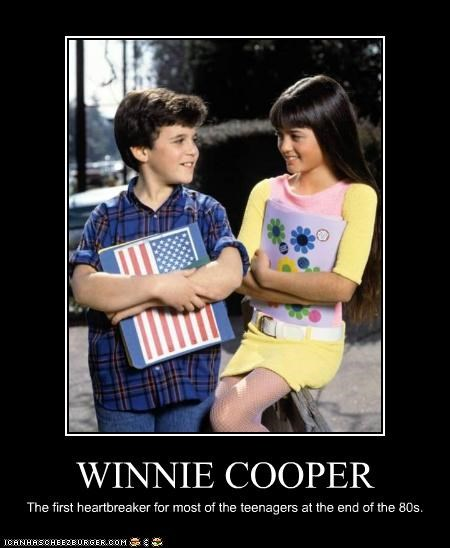 WINNIE COOPER The first heartbreaker for most of the teenagers at the end of the 80s.