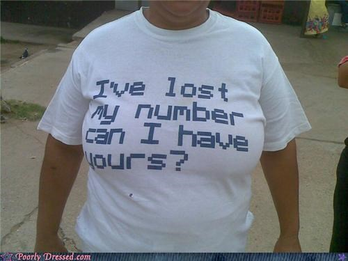 gross lost no thanks number shirt - 4566312448