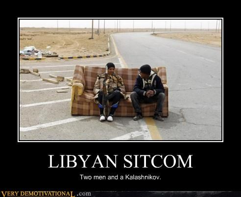 lybia,sitcom,two and a half men,guns