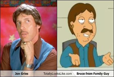 bruce family guy jon gries mustaches