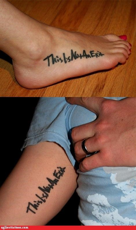 arms feet tattoos funny exit - 4567040512