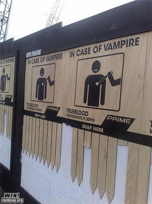 Ad advertising clever television vampires - 4567100672