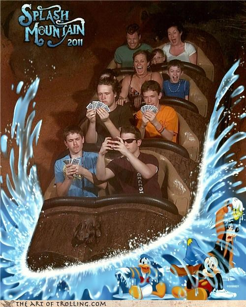 cards IRL roller coaster splash mountain - 4567162624
