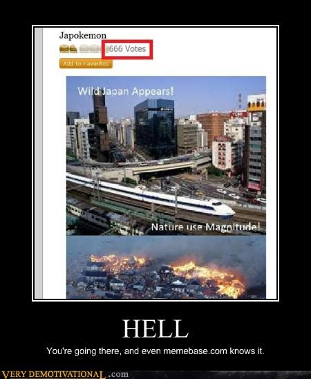 hell joke Japan earthquake - 4567704320