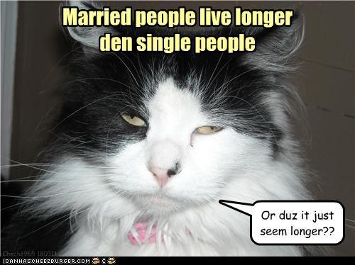 Chech1965 180311 Married people live longer den single people Or duz it just seem longer??