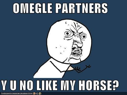 OMEGLE PARTNERS Y U NO LIKE MY HORSE?
