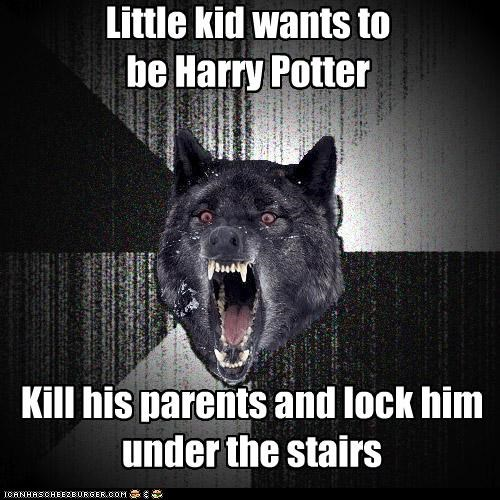Harry Potter kill parents under the stairs