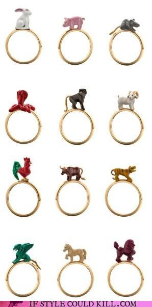 cool accessories,rings,Solange Azagury-Partridge,zodiac