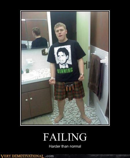 FAIL winning Charlie Sheen kilt - 4568702464