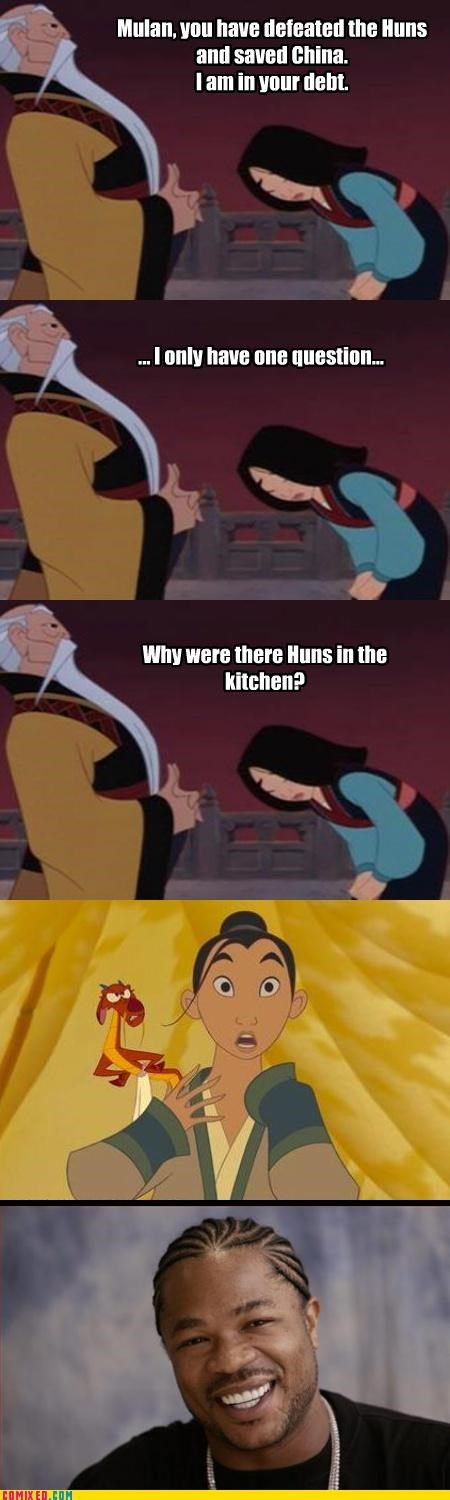 cartoons disney kitchen Movie mulan - 4568894208