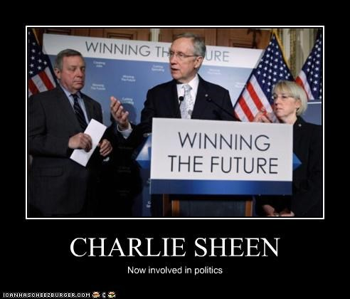 CHARLIE SHEEN Now involved in politics