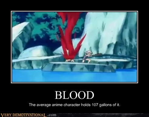 Blood,lots,anime,weird