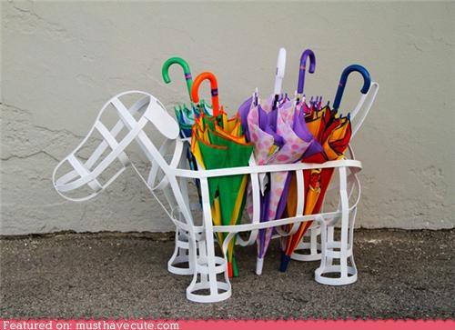dogs frame lattice metal umbrella holder white - 4569658368