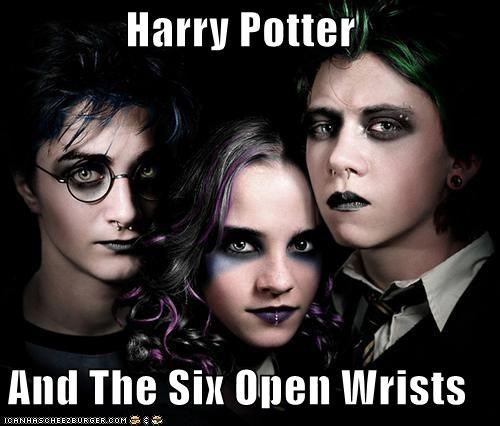 emo goth Harry Potter open wrists - 4569663488