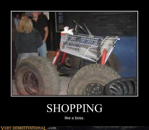 shopping cart off road car awesome