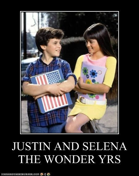 JUSTIN AND SELENA THE WONDER YRS