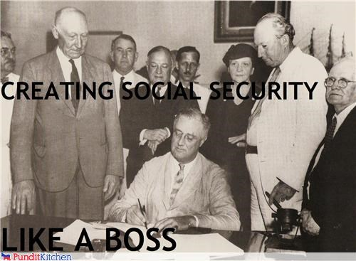 FDR franklin delano roosevelt Like a Boss presidents social security - 4570401280