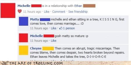 divorce facebook marriage relationship rude - 4570425600