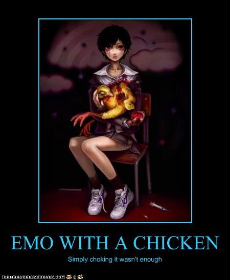 EMO WITH A CHICKEN