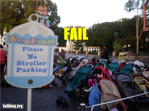 amusement park failboat g rated parking pesky children signs strollers - 4570904064