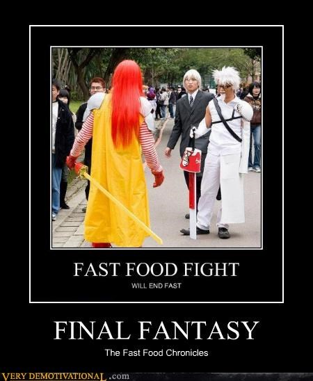 final fantasy,kfc,McDonald's