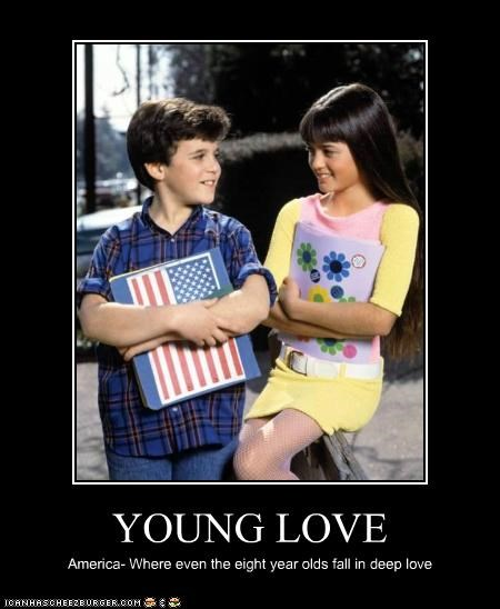 YOUNG LOVE America- Where even the eight year olds fall in deep love