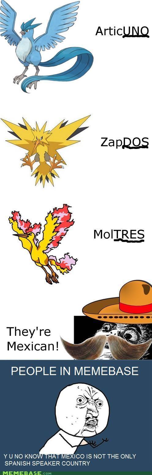 articuno,Pokémemes,Pokémon,south america,zapdos