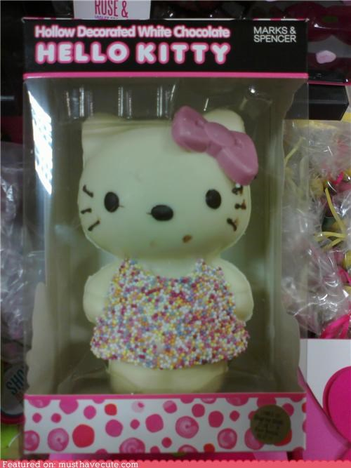 bow,chocolate,epicute,hello kitty,pink,sprinkles,white chocolate
