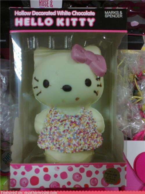 bow chocolate epicute hello kitty pink sprinkles white chocolate - 4571663872