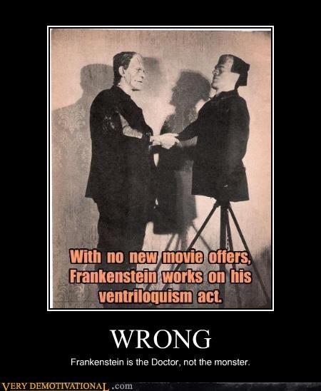 frankenstein monster Ventriloquism wrong - 4572052736