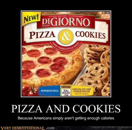 americans calories cookies pizza