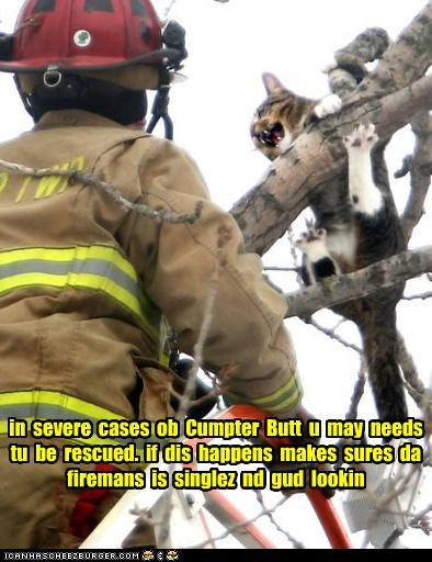in severe cases ob Cumpter Butt u may needs tu be rescued. if dis happens makes sures da firemans is singlez nd gud lookin